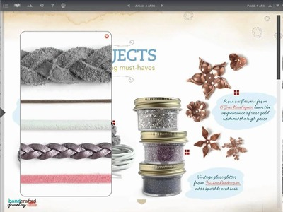 Handcrafted Jewelry Studio eMag - Tutorial Preview