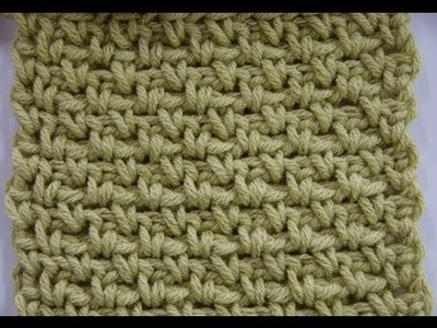 How to Crochet: Granite Stitch or Moss Stitch