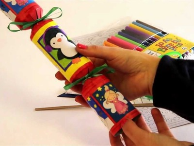How to make a colour-in Christmas cracker - Craft project