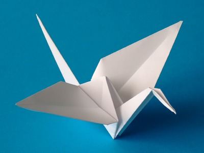How to make a Flappy bird origami -Origami crane