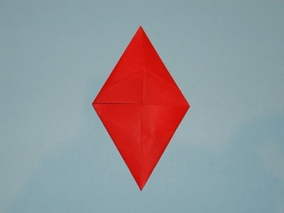 How To Make An Origami Christmas Diamond