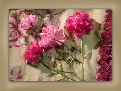 How to make silk ribbon embroidered carnation flowers