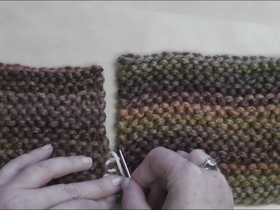 How to Seam: Garter Stitch