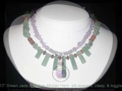 Jewelry - Semi-Precious Necklaces  with Bali Sterling Silver Beads