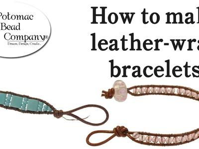 Make a Beaded Leather Wrap Bracelet (Chan Luu Style)
