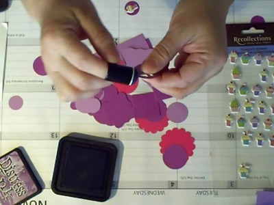 Making a Cupcake embellishment for Scrapbook or Card