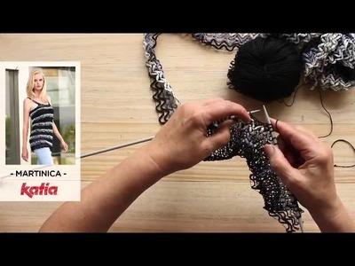 Martinica (Attaching strips by knitting. Aplicación tiras a media)