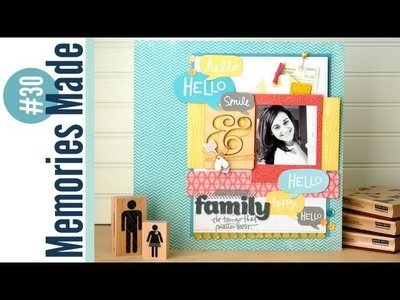 Memories Made #30 Scrapbooking Process Video: Family