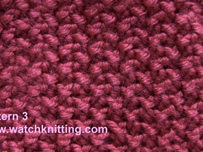(Moss) - Simple Patterns - Free Knitting Patterns Tutorial - Watch Knitting - pattern 3