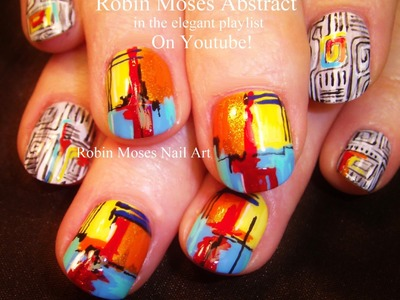 Nail Art Tutorial | DIY Rainbow Nails | Geometric Abstract Nail Design