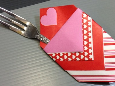 Origami Valentine's Day Utensil Holder - Print at Home