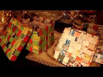 Paper Weaving . Gift Box part 3