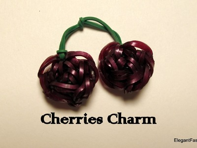 Rainbow Loom Cherry Charm - How to - Food Series