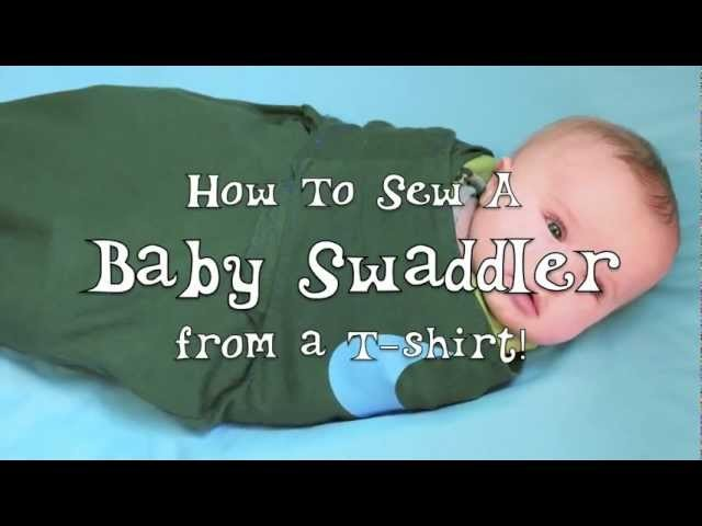 Sew a Baby Swaddler from a T-Shirt!
