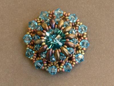 Sidonia's handmade jewelry - Superduo Lotus flower pendant