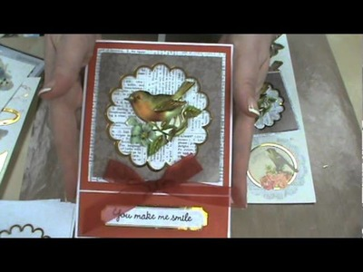 Tim Holtz Texture Fades & Ruby Rock-It Decoupage Cards by Scrapbooking Made Simple