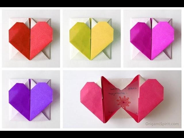 Tutorial -Origami Heart-Box -Corazón en origami