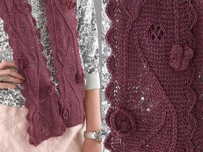 #21 Embellished Scarf, Vogue Knitting Holiday 2010