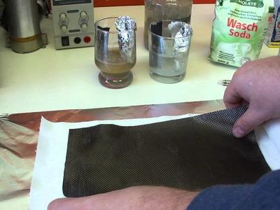 Carbon fiber sheet Aluminium foil Selfmade DIY High Output battery free energy