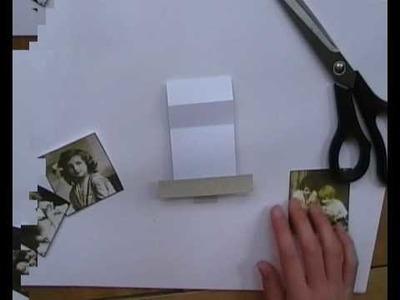 Cardmaking waterfall card tutorial