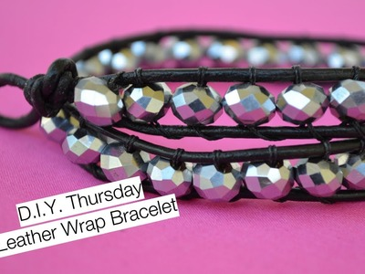 DIY Chan Luu inspired beaded leather wrap bracelet | Nik Scott