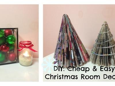 DIY ❄ Cheap & Easy Holiday Room Decor!