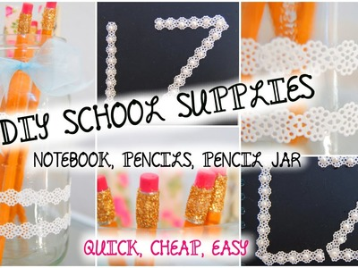 DIY Decorate School Supplies! | BACK TO SCHOOL 2014
