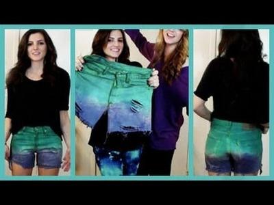 DIY Dip Dye Cut Off Shorts