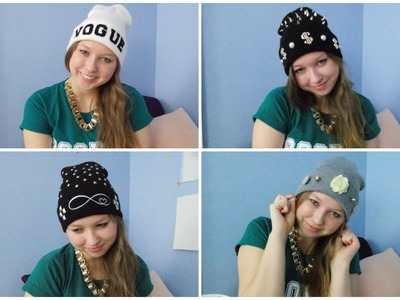 DIY EASY & CUTE BEANIE IDEAS