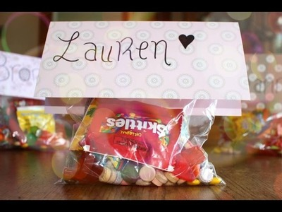 DIY: Easy Candy Gift-bags!!! - Party Ideas | Haley & Bronwen