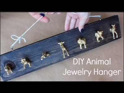 DIY Gold Animal Jewelry Hanger