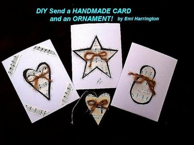 DIY - Handmade CHRISTMAS Card and ornament, heart, star, snowman, Cardmaking