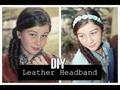 DIY Leather Headband | ShowMeCute