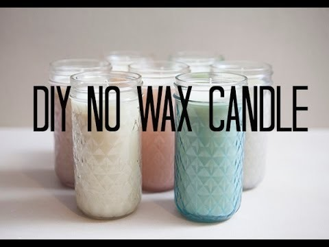 DIY 'No Wax' Candle