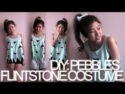 DIY: Pebbles Flintstone Halloween Costume