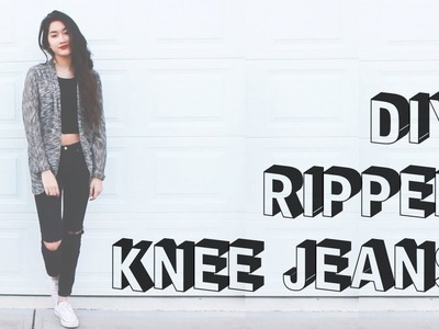 DIY Ripped Knee Jeans [S³] | ToThe9s