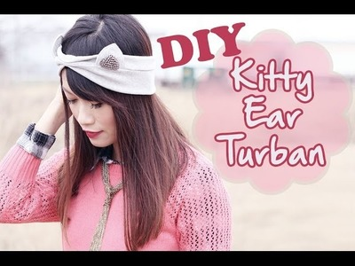 ☂ DIY: Simple Kitty Ear Turban {Hand Sew Approved}