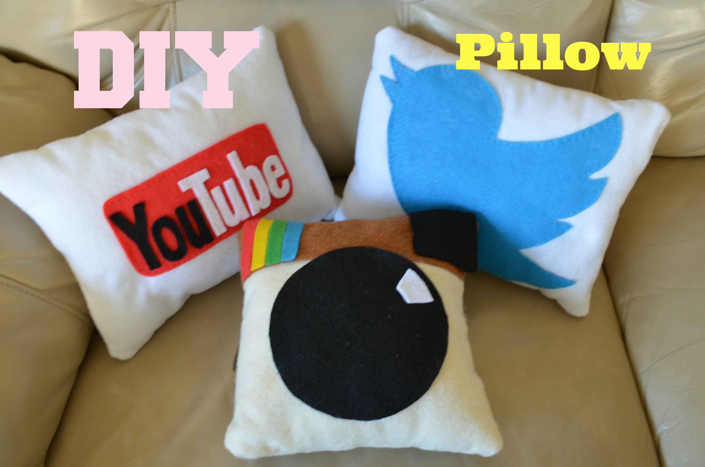 ✂ DIY: Social Media Pillows