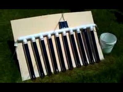 DIY solar vacuum tube water heater manifold