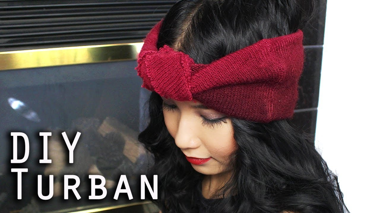 DIY Turban Headband (From Recycled Old Beanie)
