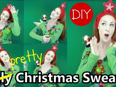 DIY Ugly Christmas Sweater Tutorial and Classroom Motivator