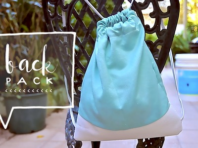 Drawstring Bag DIY | How to Make Sew a Backpack (Como Hacer un Bolso, Cartera o Bulto)