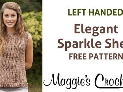 Elegant Sparkle Shell Free Crochet Pattern - Left Handed