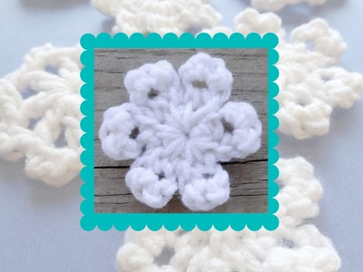 Episode 130: How To Crochet A One Round Snowflake (Circle Ended Snowflake)