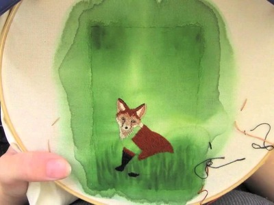Fox Embroidery - Short Version Time Lapse - How Did You Make This? Luxe DIY