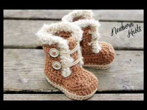 Fur Trim Baby Booties - Crochet Pattern Presentation