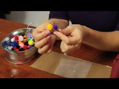How to Glue Pom Poms : Fun & Simple Crafts