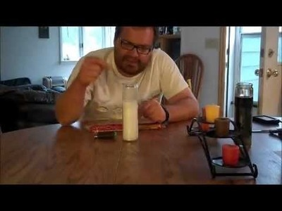 How to light a hard to reach candle wick