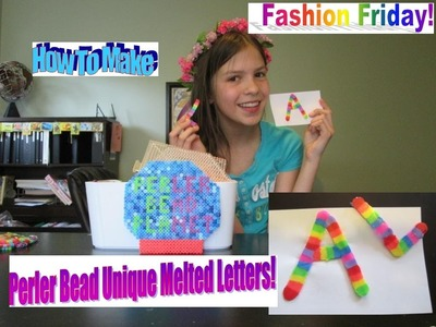 How To Make A Perler Bead Unique Melted Letter!! SO CUTE!