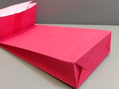 How to Make an Origami Gift Bag with a Gusset for Holidays